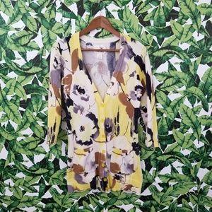 Anthro Tabitha Oil Paint Cardigan
